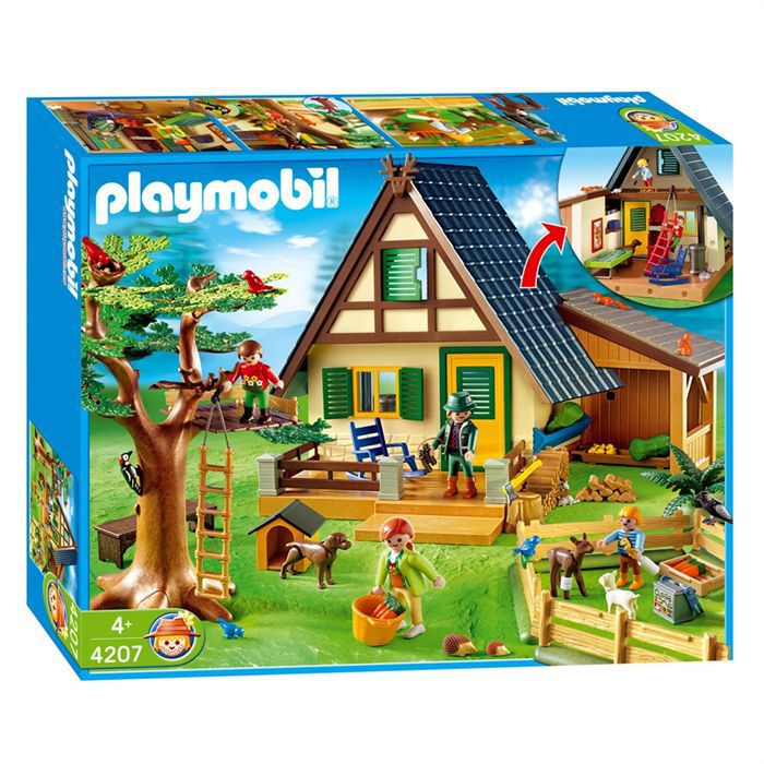 Playmobil 4207 famille animaux maison achat vente for Photos maison playmobil