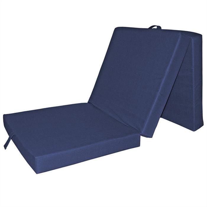 matelas pliable en 3 bleu achat vente matelas cdiscount. Black Bedroom Furniture Sets. Home Design Ideas