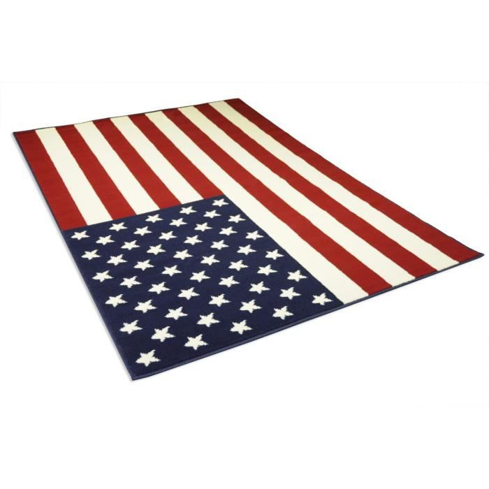 tapis drapeau americain achat vente tapis drapeau. Black Bedroom Furniture Sets. Home Design Ideas
