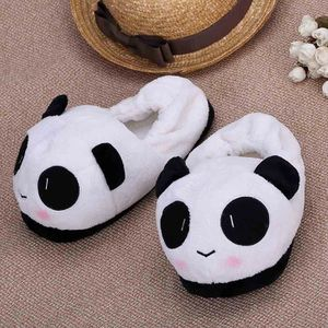 Pantoufles Cartoon Animaux Hiver Chaud Peluche Panda slippers BZH-XZ037Blanc37
