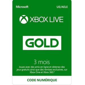 CARTE PRÉPAYÉE Abonnement Xbox Live 3 mois