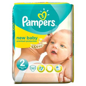 PAMPERS New Baby Taille 2 3 ? 6kg 32 couches