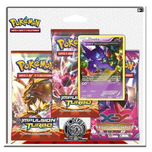 CARTE A COLLECTIONNER Pokémon : Pack 3 boosters XY01 Impulsion Turbo : T