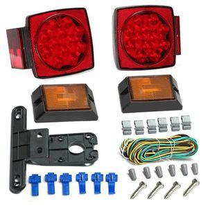 ALLUMAGE AUTO DES FEUX 12V LED remorque légère Kit feux arrière multi-fon