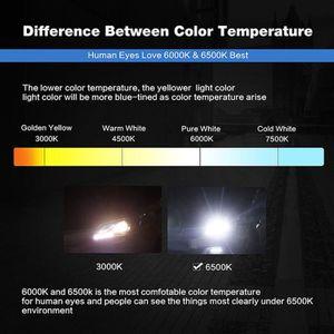 PHARES - OPTIQUES Petrichor ®50W 8000LM H4 Lampe LED kit voiture fai
