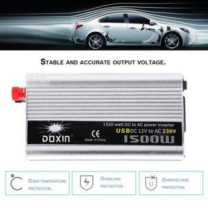 CONVERTISSEUR AUTO 1500W 12VDC Onduleur de voiture Pour 230VAC Conver