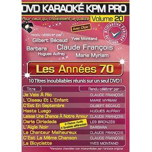 DVD MUSICAL DVD Karaoké KPM Pro Vol.20 Années 70