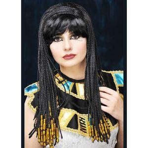 ACCESSOIRE DÉGUISEMENT Mesdames noir Reine Cleopatra Wig