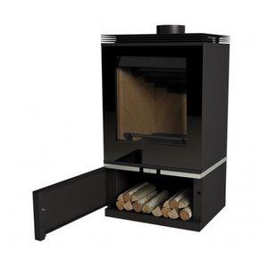 POÊLE À BOIS Poêle à bois avec turbines Louvre couleur noir 11