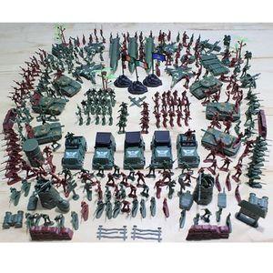 FIGURINE - PERSONNAGE 307PCS/Kit Petits Soldats Figurine Tank Sable Armé