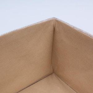 BOITE DE RANGEMENT Boîte de rangement polyester taille moyenne Beige