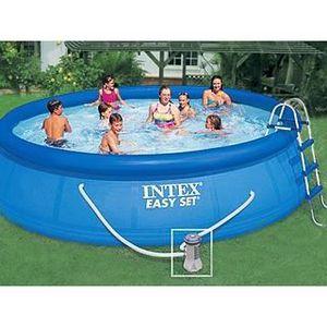PISCINE Kit piscine Intex EASY SET ronde 4.57m x 1.07m