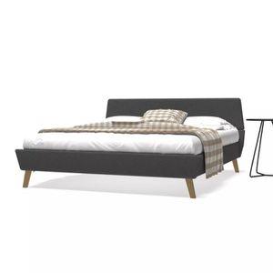 STRUCTURE DE LIT Cadre de lit avec sommier à lattes 160 x 200 cm Gr