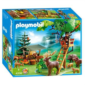 UNIVERS MINIATURE PLAYMOBIL 4208 Garde forestier/Animaux