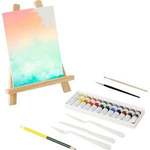 AGENDA - ORGANISEUR MAIN D'ARTISTE 12 tubes de peinture + chevalet 28c