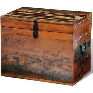 COFFRE - MALLE Coffre de stockage en bois recyclé solide