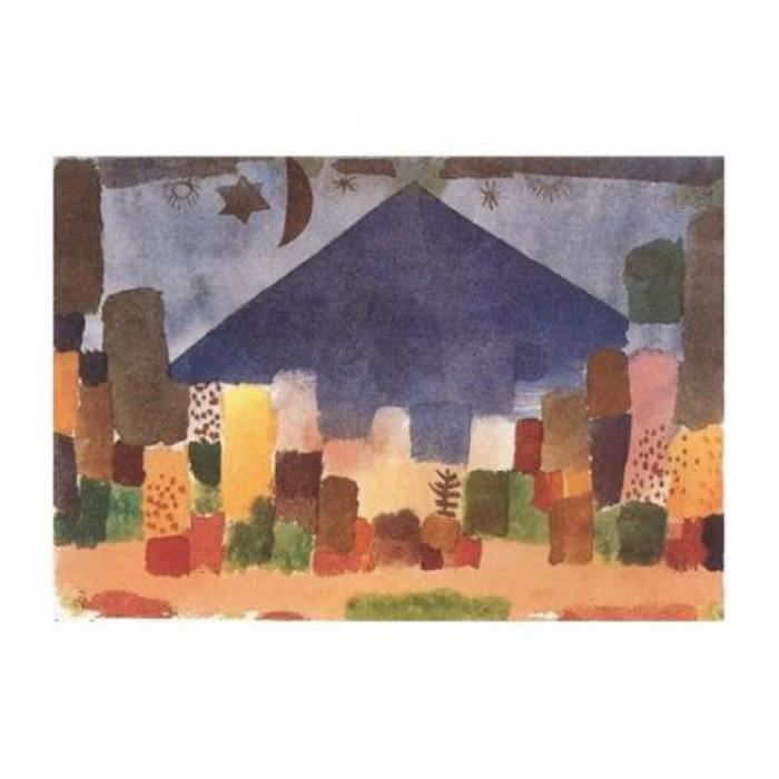 Paul klee poster reproduction le niesen nuit gyptienne for Decoration egyptienne murale