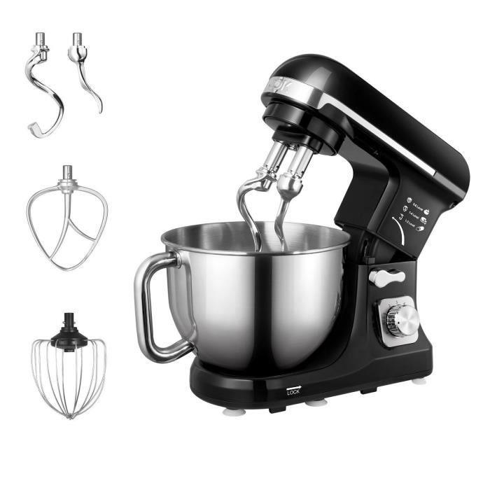 Aicok Stand Mixer Mitigeur, Nourriture, DE CUISINE mixeur électrique 1000 W avec double crochet à pâte, fouet, Batteur, protection a