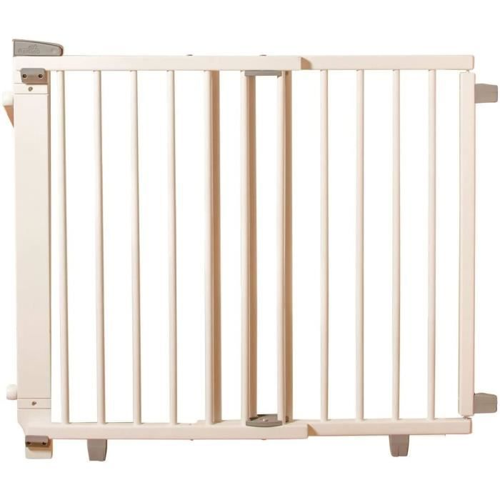 Geuther, EASYLOCK 2733+, Barrière de sécurite pivotante pour escalier, Blanc, 67 cm
