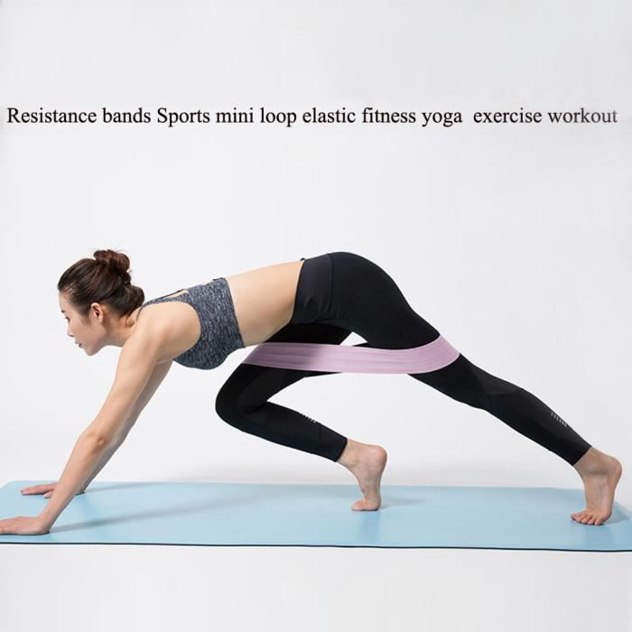 【élastique】Bandes de résistance Sports mini boucle élastique Fitness Yoga exercice d'entraînement_YU7393