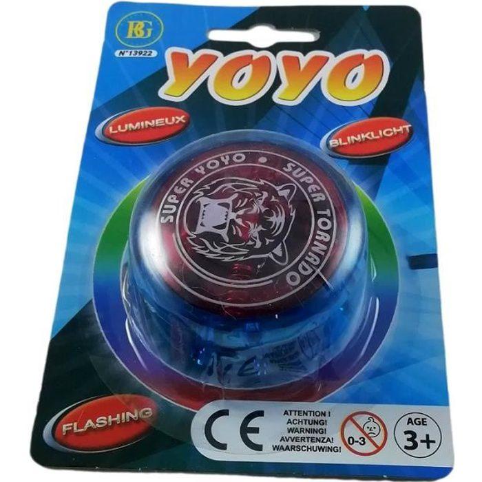 Yoyo Magique Lumineux Magic Ball Jouet avec Motif pour Enfant Bleu