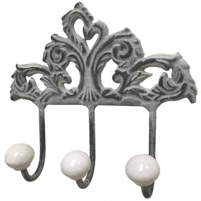 Style Ancienne Patère Porte-Serviette Manteau Chiffon de Cuisine Salle de Bain Entrée 16 cm
