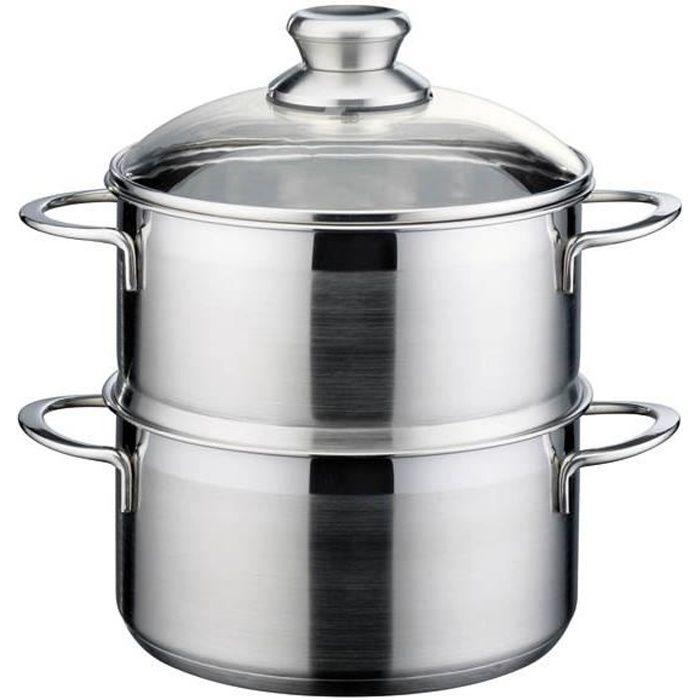 Marmite à vapeur pour pommes de terre et légumes, acier inoxydable, 20 cm