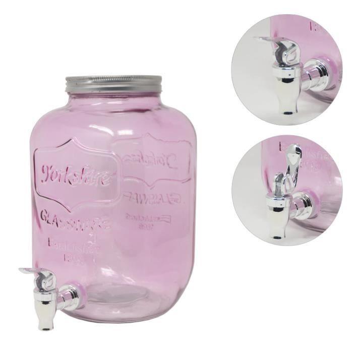 Distributeur de boisson DRULINE 4 litres Rose 5099-6