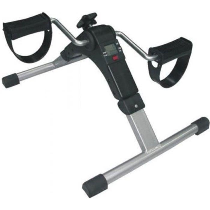 Pédalier électronique - Exerceur des bras et des jambes - Ecran LCD - 4 pieds en gomme anti-glissantes