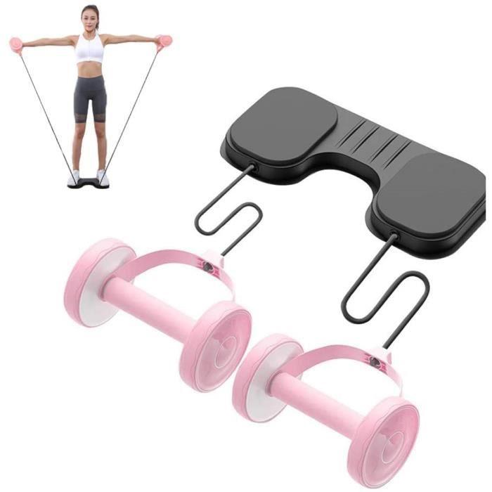 AB Roue Abdominale Appareils De Fitness pour Genou Kit Complet pour Fitness Exercices Musculation