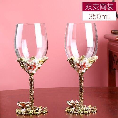 Simple packaging 2 -Ensemble de verres à vin rouge en cristal, couleur émail sans plomb, carafe, gobelet créatif, verre à vin, cadea