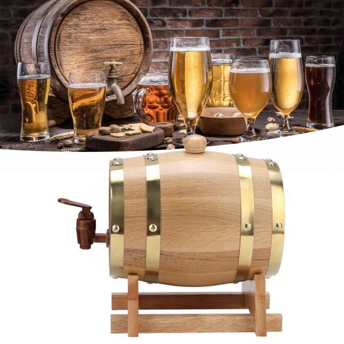 Baril de vin pratique de 1,5 L, baril vintage, tonneaux de chêne tonneaux en bois pour le vin brandy boit du whisky
