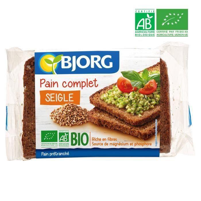 BJORG Pain Complet de Seigle Bio 500g