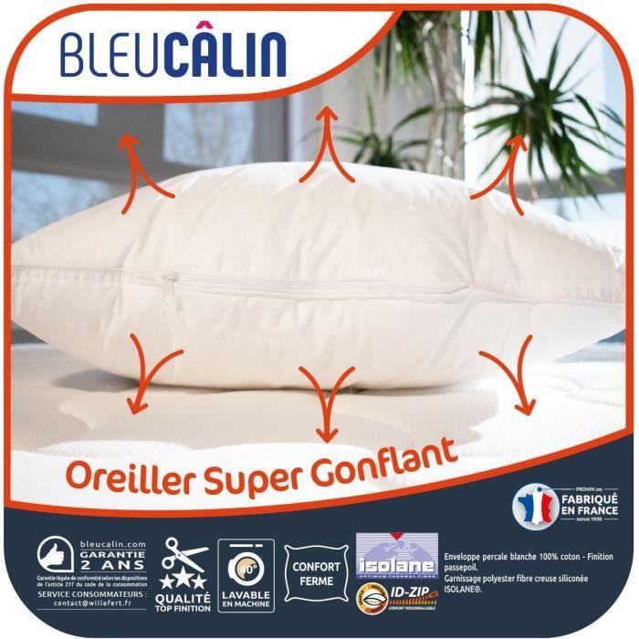 BLEU CALIN Oreiller super gonflant - Blanc