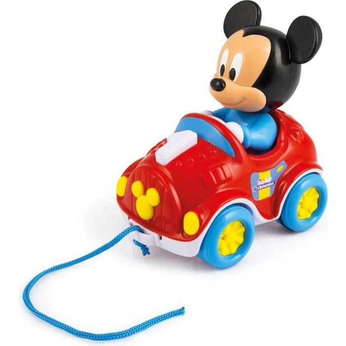 CLEMENTONI Disney Baby - Ma voiture à tirer Mickey - Jeu d'éveil