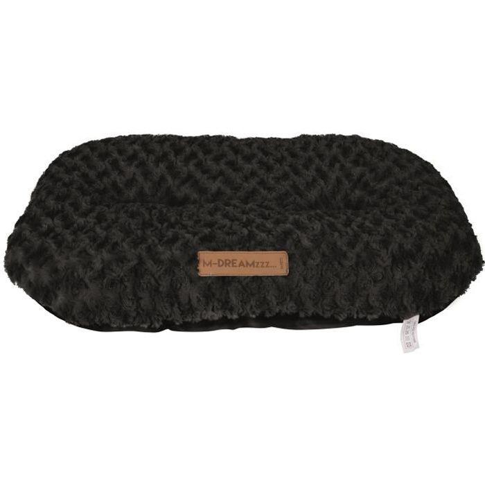 M-PETS Coussin oval Shetland XL - 88x58cm - Noir - Pour chien