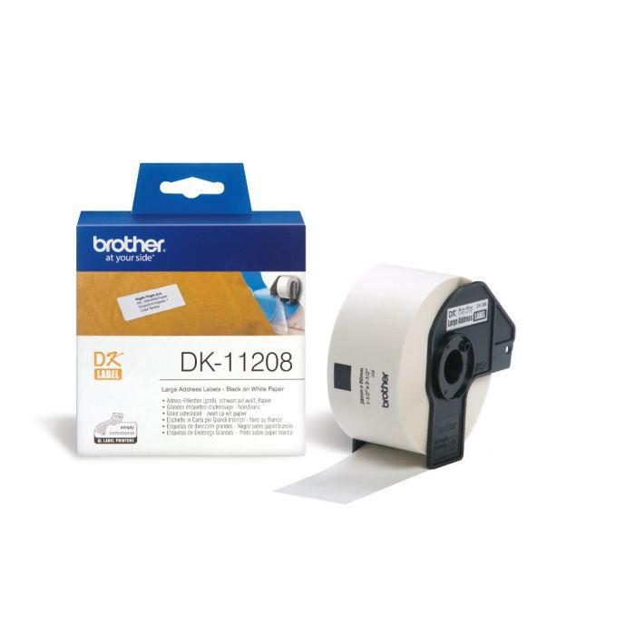 BROTHER Ruban papier P-TOUCH DK-11208 - 38x90mm