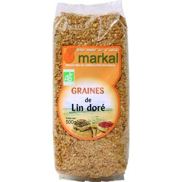 Graines de lin doré, 500g, Markal