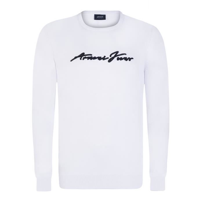 ARMANI JEANS Pull - Homme - Blanc