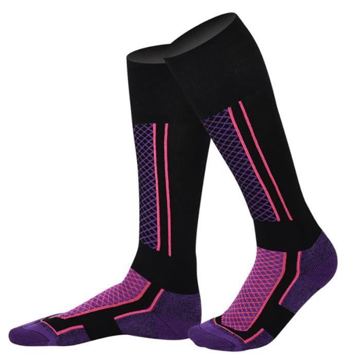Chaussettes de Ski Femme Enfant Coton Chaussettes de Marque Chaussettes de sport pour Ski Alpinisme Randonnée Hiver