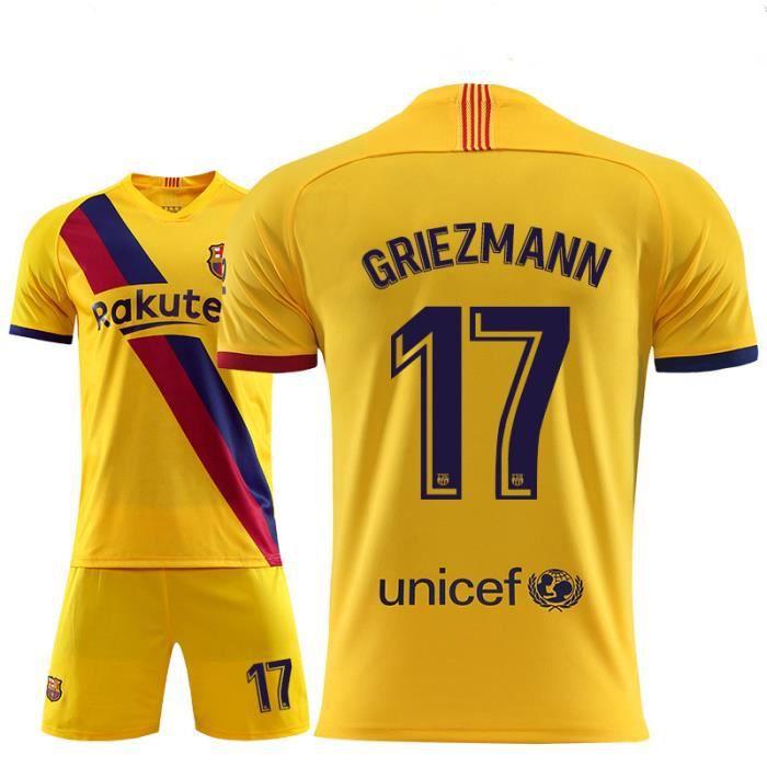 Maillot de Foot Barça Football Soccer(maillot + short)Kit Pas Cher Nouveau Barcelone No.17 Griezmann 2019 2020 pour Homme