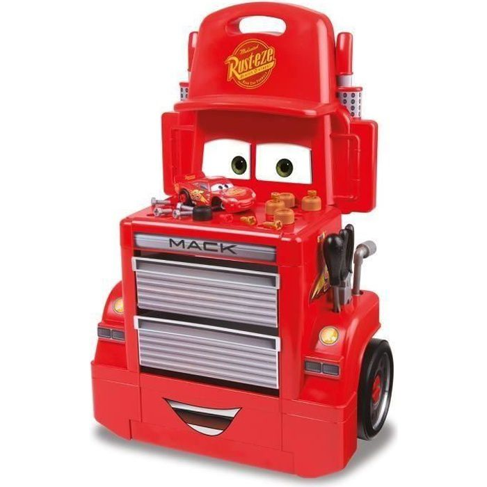 CARS 3 Smoby Servante Mack Truck + Voiture et Acs