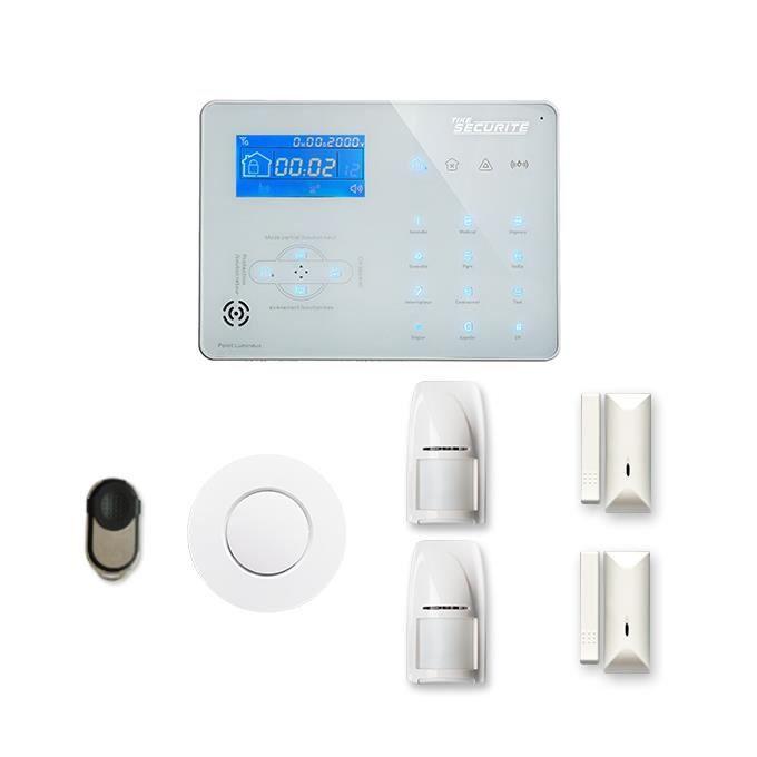 Alarme maison sans fil ICE-B 1 à 2 pièces mouvement + intrusion + détecteur de fumée - Compatible Box internet et GSM