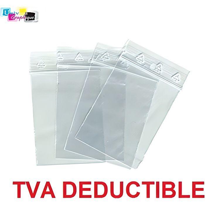 lot de 1000 Sachets 80 x 120 mm fermeture zip Transparent. Sachet fermeture zip 50u sac plastique compatible 8x12 alimentaire et con