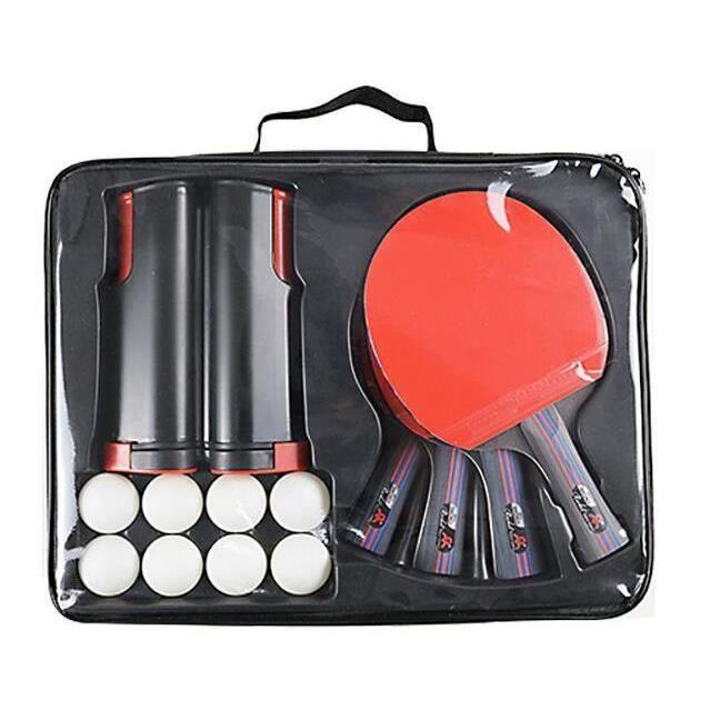 Raquette de Ping Pong Professionnel Set, 4 Raquette de Tennis de Table + 8 Balles de Ping-Pong