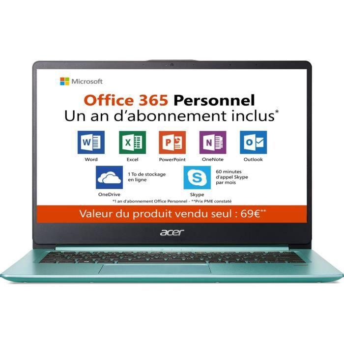 """ORDINATEUR PORTABLE PC Ultrabook-ACER Swift 1 SF114-32-P4CQ - 14"""" FHD"""