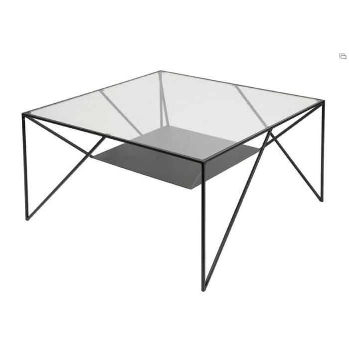 Table basse moderne verre et m tal achat vente table for Table basse verre metal