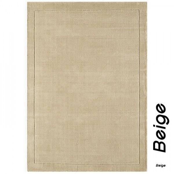 Tapis Contemporain Uni Beige York En Laine Collection Grand Cru By Joseph Lebon 80 X 150 Cm
