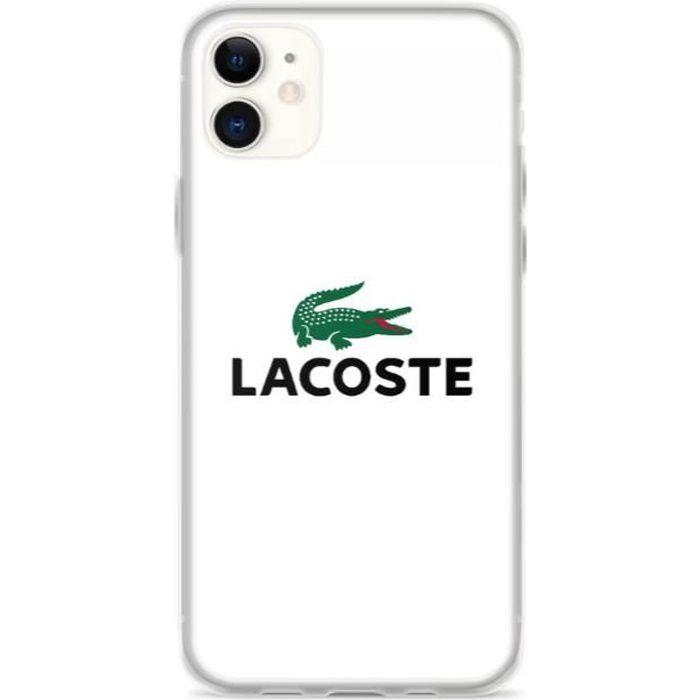 Coque iPhone 11 PRO MAX - Lacoste - Logo - crocodi