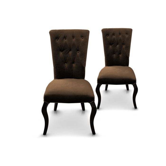 lot de 2 chaises fauteuil capitonn rev temen achat. Black Bedroom Furniture Sets. Home Design Ideas